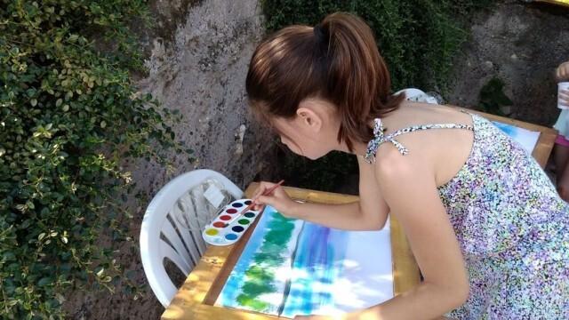 С пленер по живопис малки художници от община Долна Митрополия отбелязаха Деня на река Дунав