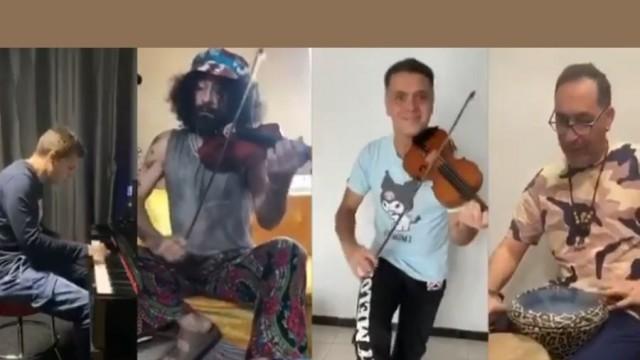 Ара Маликян & Васко Василев - криво хоро по време на социална изолация