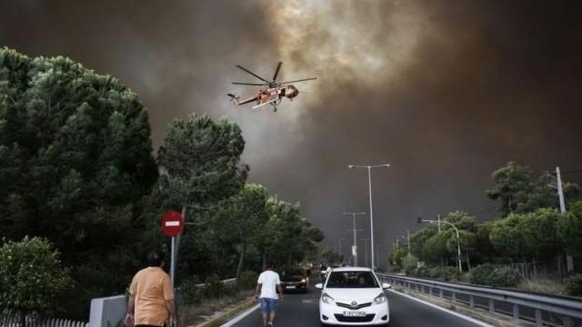 Ужас: Най-малко 20 загинали в пожарите край Атина
