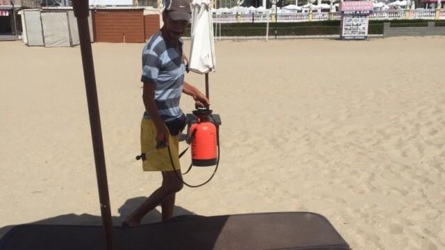 На Слънчака кипи - дезинфекцират шезлонги, чадъри и масички