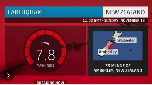 Земетресение с магнитуд 7,4 по скалата на Рихтер разтресе Нова Зеландия
