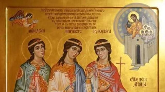 Честваме свети мъченици Минодора, Митродора и Нимфодора