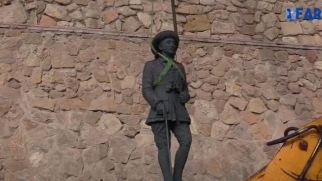 Исторически ден: Последният паметник на диктатора Франко бе премахнат от испанските власти (ВИДЕО)