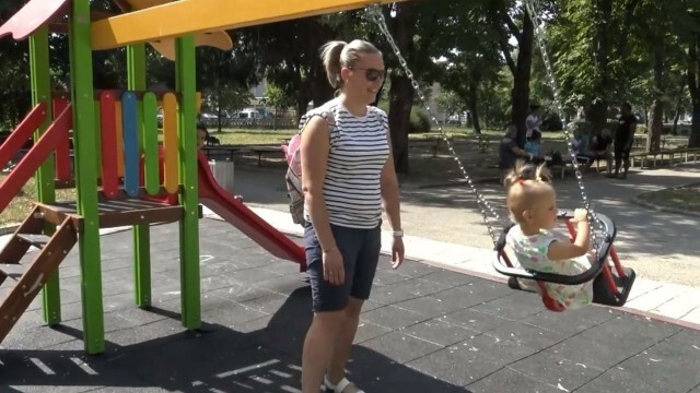 Градският парк в Червен бряг вече има видеонаблюдение