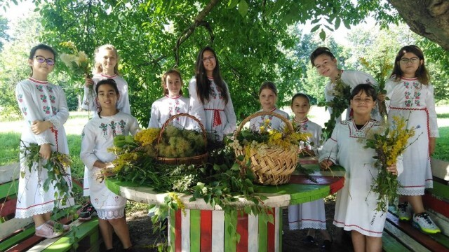 Малките моми от село Победа нагазиха из росните поляни на Еньовден