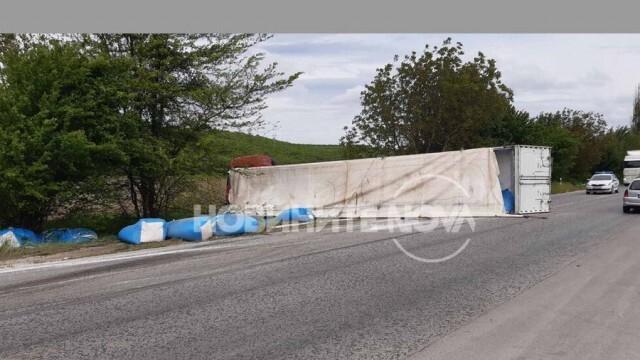 Тир самокатастрофира на главен път Русе - Велико Търново