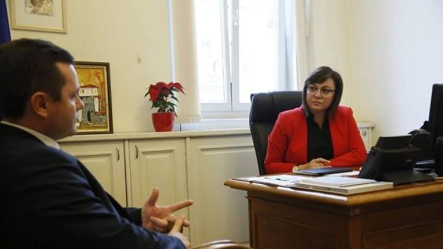 Корнелия Нинова похвали Пенчо Милков за потушаване на напрежението около