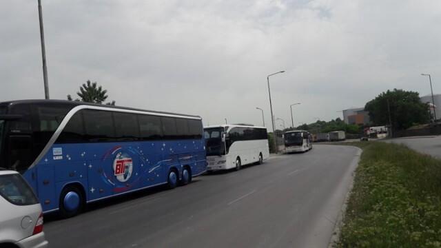 Автобуси излязоха на протестно шествие в Русе