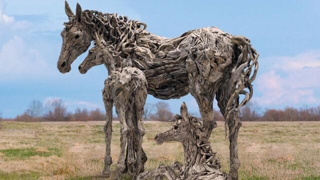 Скулптор създава впечатляващи произведения от необичаен материал (ВИДЕО)