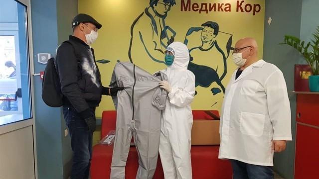 """Пламен Нунев направи дарение от защитни облекла на УМБАЛ """"Медика Русе"""""""