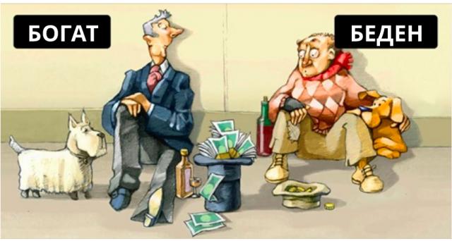 Доходите на най- богатите у нас са с 8 пъти по-високи от тези на най - бедните