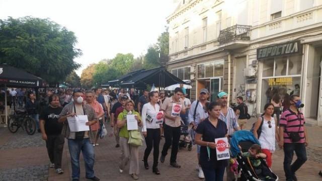 Стотици млади русенци протестираха срещу замърсяването на въздуха