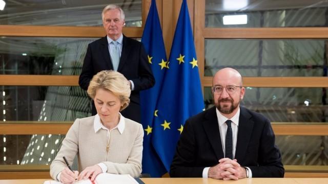 Европейските лидери подписаха споразумението за Брекзит