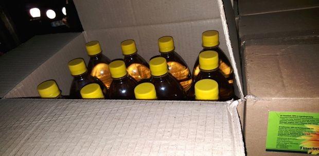 Хванаха 2,5 тона алкохол, бутилиран като олио /Снимки/