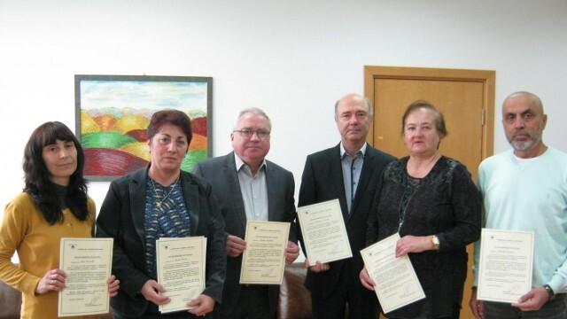 7 служители на НАП - Русе получиха поздравителни адреси от Румен Спецов