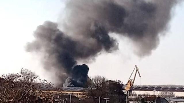 Пожар в Западна промишлена зона