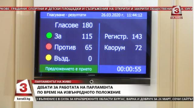Депутатите гласуваха да спрат временно работа