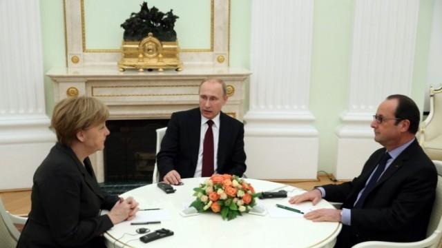 Путин, Меркел и Оланд договорили нов мирен план, няма подробности