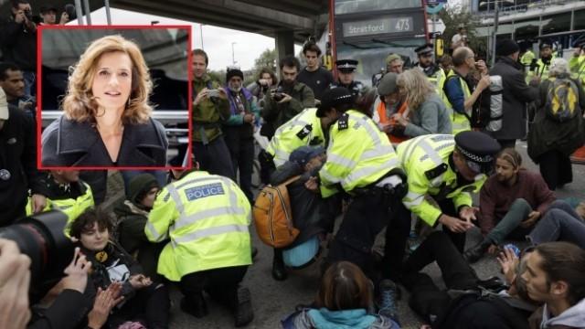 Белгийска принцеса сред задържаните природозащитници в Лондон