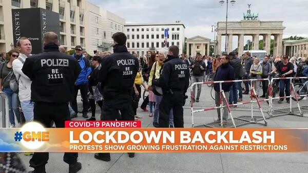 Протести в Германия, заради мерките за борба с пандемията