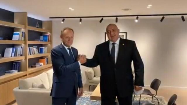 Борисов се изповядал пред Доналд Туск за снимките с чекмеджетата
