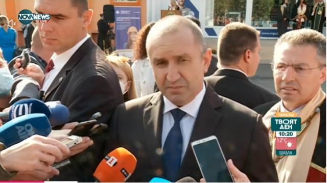 Румен Радев: Крайно време е Борисов да защити честта на партията си и да се кандидатира за президент