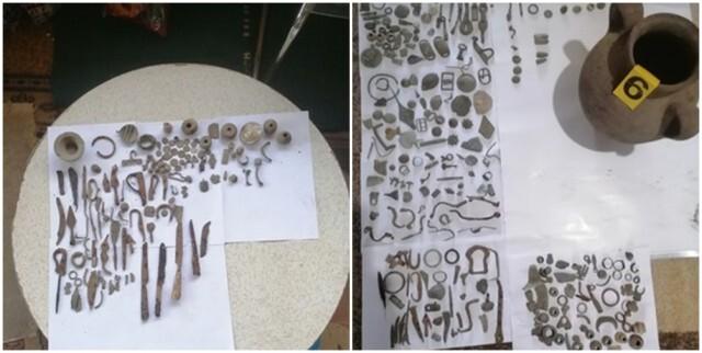 Металдетектор и близо 700 антични предмета са иззети от частен дом в с. Руйно