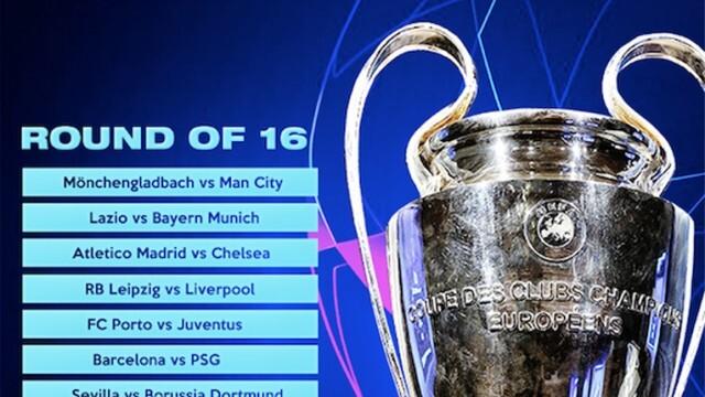Вижте кой срещу кого ще спори в осминафиналите на Шампионската лига по футбол