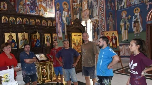 Шести сезон продължава изографисването на новия катедрален храм