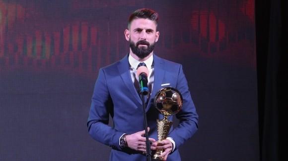 Голмайсторът на родния елит Димитър Илиев е футболист №1 на България