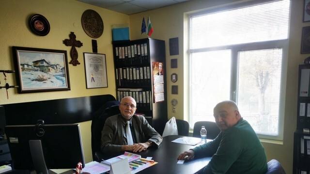 Водачът на листата на ИБГНИ в Русе Арман Бабикян се срещна с председателя на Русенска стопанска камара проф. д.н. инж. Красимир Ениманев