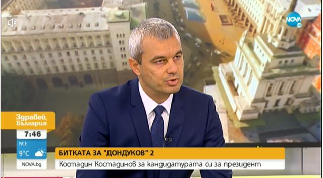 Костадин Костадинов сравни Радев с ГЕРБ, очаква да стигне до балотаж на президентските избори