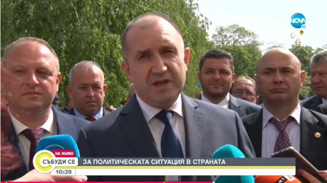 Румен Радев: Доживяхме ГЕРБ да призовава президента да наложи вето. ЦИК се посочва от НС
