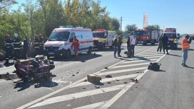 Български моторист е катастрофирал тежко край Гюргево (СНИМКИ)