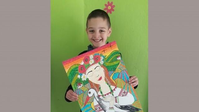 """Отново награда за възпитаник на Артшкола """"Колорит"""" - от международен конкурс, посветен на щъркелите"""