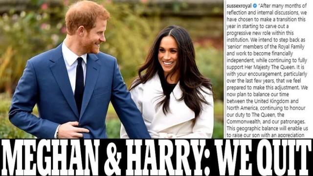 Хари и Меган се отказват от титлите, ще са обикновени граждани