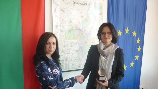 Отличиха кмета на Левски с приз за европейски модел на управление
