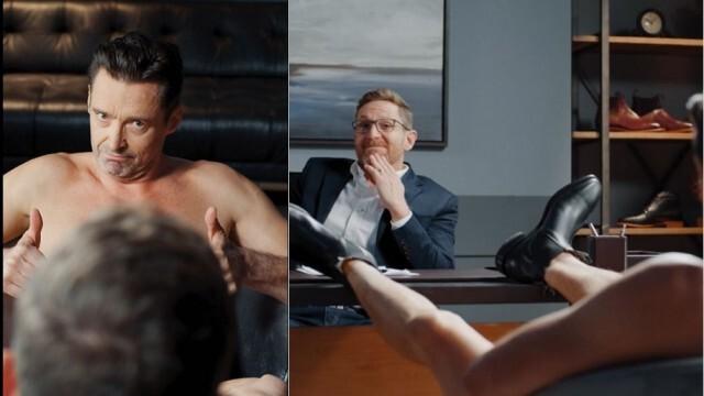 Върколакът Джакман гол в реклама за обувки