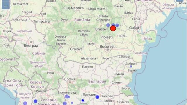 Регистрирано е най-силното земетресение във Вранча за тази година