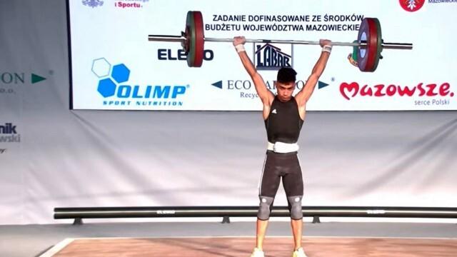 Пето място за Ерджан Весков на Европейското първенство по вдигане на тежести за кадети