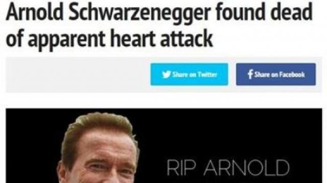 ШОК! Сайт обяви Арнолд Шварценегер мъртъв, влуди света