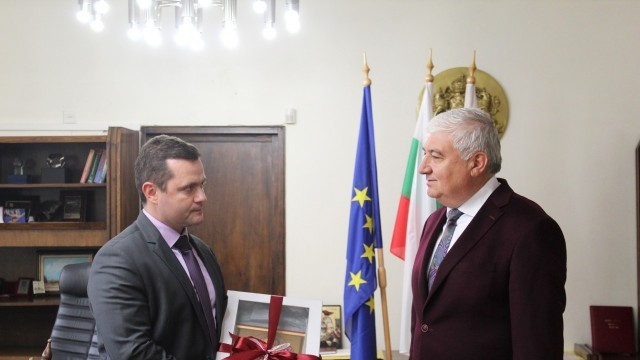 Русенският градоначалник Пенчо Милков прие кмета на Гюргево Николае Барбу