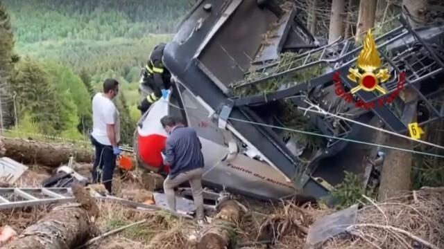 14 са жертвите при падането на кабинка от лифт в Италия, единственият оцелял - 5-годишно момче