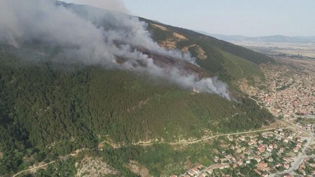 Глътка въздух: Горският пожар край Твърдица е локализиран