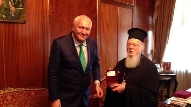 Вселенският патриарх Вартоломей I прие на среща депутата Васил Антонов