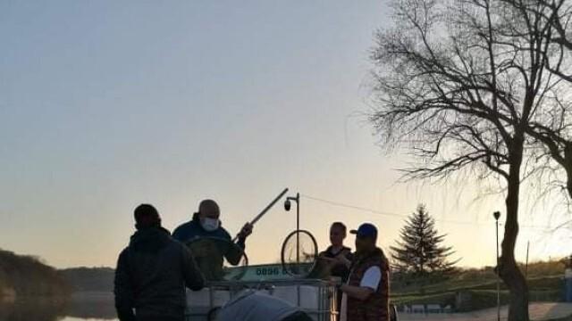 """Благотворители пуснаха 1 тон риба в езерото на Лесопарк """"Липник"""""""