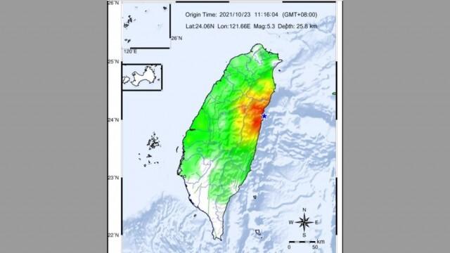 Силно земетресение удари Тайван