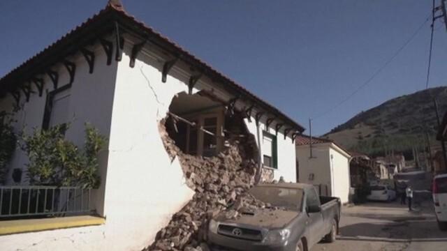 Силни вторични трусове след земетресението в гръцкия град Лариса