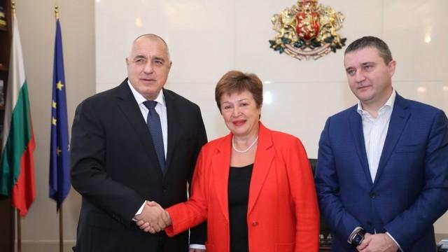 Борисов към Кристалина Георгиева: Българската икономика се развива устойчиво