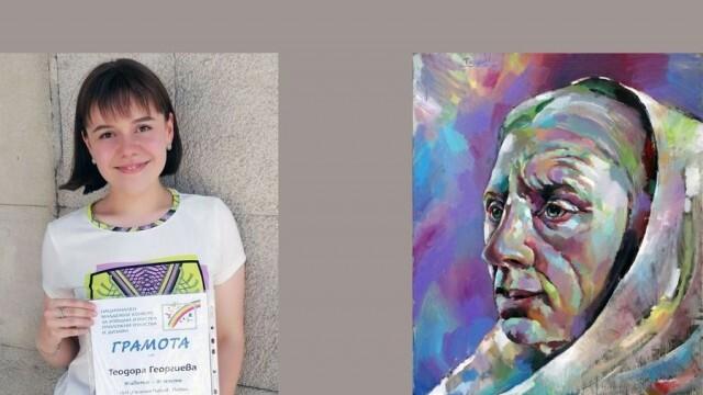 """Живописна творба на ученичка от НУИ """"Панайот Пипков"""" с награда от Национален младежки конкурс"""